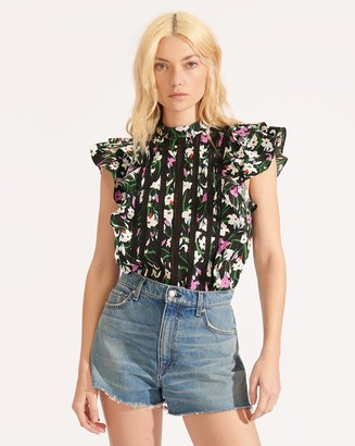 Veronica Beard Sol Floral Top