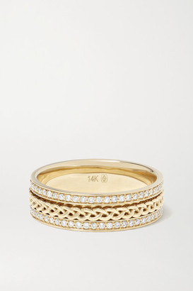 Jacquie Aiche 14-karat Gold Diamond Ring - 7