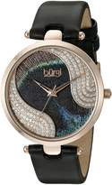 Burgi Women's BUR131BKR Analog Display Swiss Quartz Black Watch