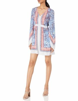BCBGMAXAZRIA Azria Women's Jenissa Printed Kimono-Sleeve Dress