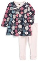 Tea Collection Infant Girl's Puff Dress & Leggings Set