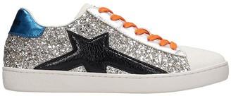 Lola Cruz Sneakers In Silver Tech/synthetic