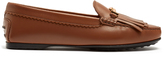 Tod's Gommini double T-bar leather loafers