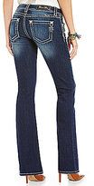 Miss Me Thick-Stitch Stretch Denim Bootcut Jeans