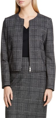 BOSS Javidar Glen Check Zip Jacket