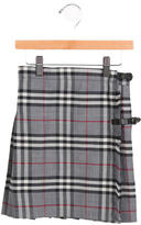Burberry Girls' Nova Check Pleated Skirt