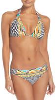Trina Turk Brasilia Shirred Hipster Bikini Bottoms