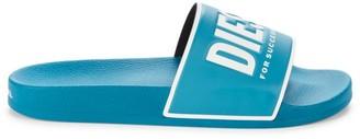 Diesel Valla Logo Slide Sandals
