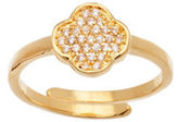 Lord & Taylor Pave Cubic Zirconia Clover Ring