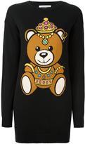 Moschino bear intarsia dress - women - Cotton - XS