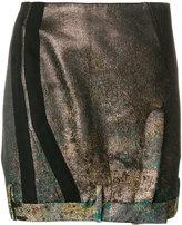 A.F.Vandevorst deconstructed metallic skirt