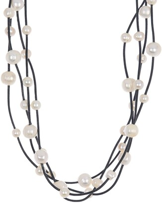 ADORNIA Layered Freshwater Pearl Necklace