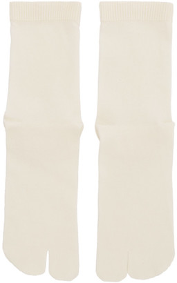 Maison Margiela Off-White Gauge 12 Jersey Socks