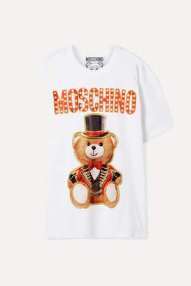 Moschino Oversized Printed Cotton-jersey T-shirt - White