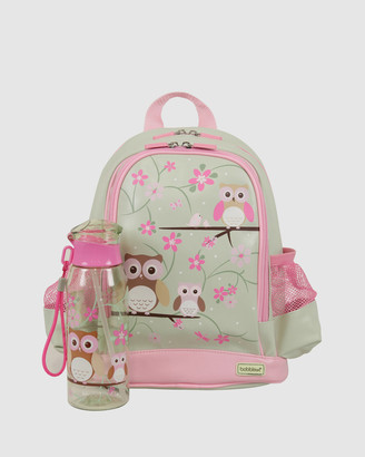 Bobbleart Small Backpack and Drink Bottle Pack Owl