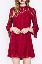 Sugar Lips Sugarlips Red Lace Dress