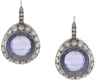 Rosa Maria Begum grey-diamond and Iolite earring