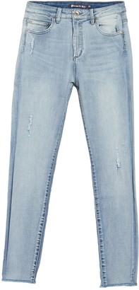 Tractr Julia High Rise Cropped Ankle Jeans