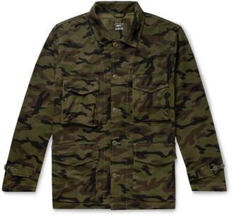 SAVE KHAKI UNITED Woodland Camouflage-Print Cotton Field Jacket