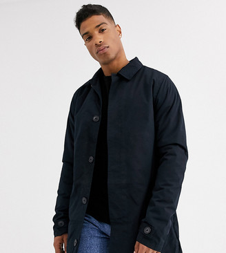 French Connection Tall lined mac-Navy
