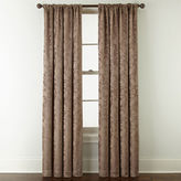 Royal Velvet Chenille Scroll Rod-Pocket/Back-Tab Curtain Panel