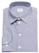 Giorgio Armani Collezioni Men Slim Fit Cotton Dress Shirt Navy Light Blue.