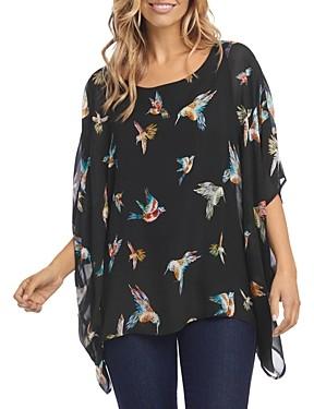 Karen Kane Bird Print Kimono-Sleeve Top