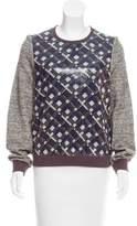 Manoush Embellished Long Sleeve Sweatshirt