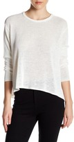 Inhabit Drapey Linen Blend Crew Neck Sweater