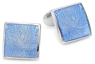 David Donahue Paisley Sterling Silver Cufflinks