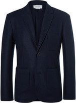 Thom Browne Unstructured Boiled Wool Blazer