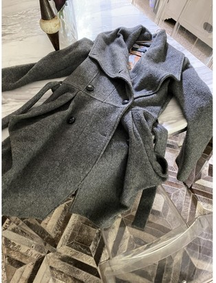 Daniele Alessandrini Grey Wool Coat for Women