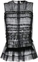 Simone Rocha transparent ruffled top
