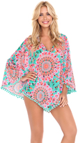 Luli Fama Dream Catcher Pom Pom Poncho In Multicolor (L472831)