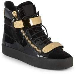 Giuseppe Zanotti Embroidered High-Top Sneakers