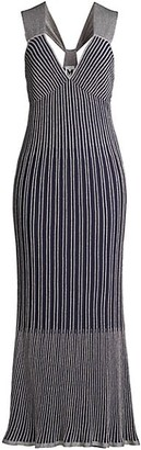 M Missoni Striped Knit Maxi Dress