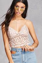 Forever 21 FOREVER 21+ Lush Lace Cropped Cami