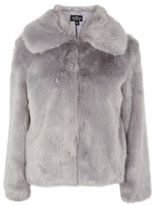Petite faux fur coat