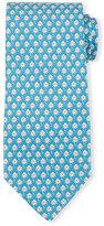 Salvatore Ferragamo Octopus-Print Silk Tie, Turquoise
