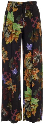Off-White Leaves Print Track Pants