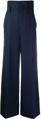 Fendi High-Waist Wide-Leg Trousers