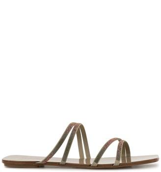 Pedro Garcia Kalene crystal strap flat sandals