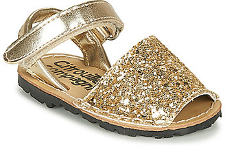 Citrouille et Compagnie SQUOUBEL girls's Sandals in Gold