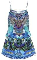 Camilla Shoestring embellished silk playsuit