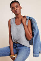 Anthropologie Frayed Scoop Neck Muscle Tee