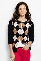 Lands' End Women's Cashmere Cardigan Sweater-Nautical Red