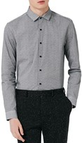 Topman Men's Classic Fit Print Sport Shirt