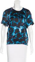 Erdem Silk Tie-Dye Print Blouse