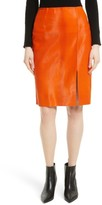 Diane von Furstenberg Women's Genuine Calf Hair Pencil Skirt