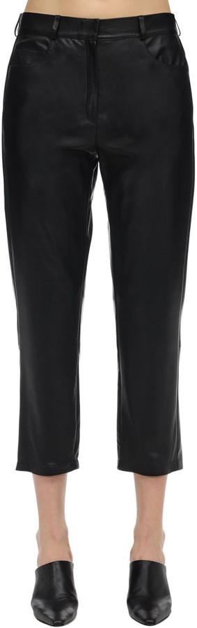 ZEYNEP ARCAY Mid Waist Cropped Leather Pants